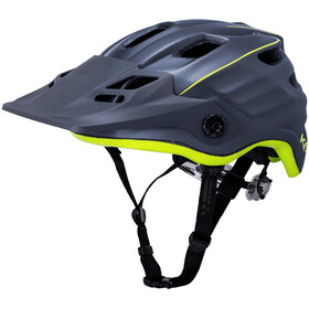 Kali Maya 2.0 Casco, matte grey/neon yellow